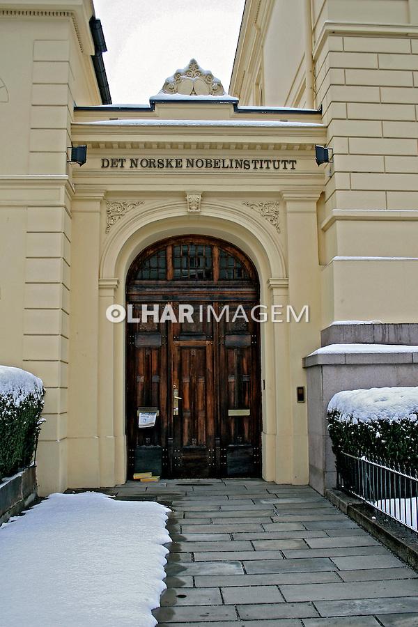 Fachada do Edifício Instituto Nobel. Oslo. Noruega. 2008. Foto de Marcio Nel Cimatti.