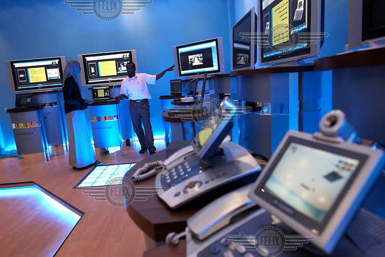 An electronics store at the Afra mall. Khartoum's first mall 'Afra' opened in 2004 and has become popular with affluent Sudanese.