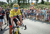 Yellow Jersey Greg Van Avermaet (BEL/BMC) post race.<br /> <br /> Stage 4: La Baule &gt; Sarzeau (192km)<br /> <br /> 105th Tour de France 2018<br /> &copy;kramon