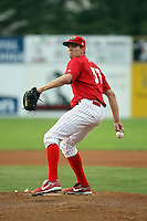 September 5 2008:  Pitcher Zach Pitts of the Batavia Muckdogs, Class-A affiliate of the St. Louis Cardinals, during a game at Dwyer Stadium in Batavia, NY.  Photo by:  Mike Janes/Four Seam Images
