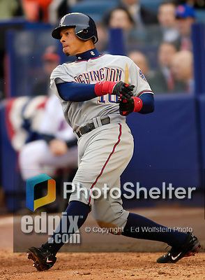 3 April 2006: Royce Clayton, infielder for the Washington Nationals, at bat during Opening Day play against the New York Mets at Shea Stadium, in Flushing, New York. The Mets defeated the Nationals 3-2 to lead off the 2006 MLB season...Mandatory Photo Credit: Ed Wolfstein Photo..