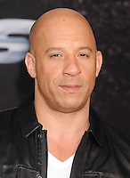 WWW.BLUESTAR-IMAGES.COM Actor Vin Diesel arrives at the 'Fast & The Furious 6' - Los Angeles Premiere at Gibson Amphitheatre on May 21, 2013 in Universal City, California..Photo: BlueStar Images/OIC jbm1005  +44 (0)208 445 8588 /©NortePhoto/nortephoto@gmail.com<br />