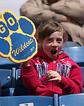 Grace Renner, 8, and fellow Lenz Elementary students watch the Western Nevada Wildcats play a college baseball game against the College of Southern Idaho at John L. Harvey Field, in Carson City, Nev., on Friday, March 28, 2014. <br /> Photo by Cathleen Allison/Nevada Photo Source