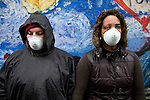 (l-r) Tanya Turner and Ash-lee W. Henderson wait to be charged by the police after the DIe In at the TVA headquarters. Mountain Justice Spring Break, March 14, 2009 (©Robert vanWaarden ALL RIGHTS RESERVED)