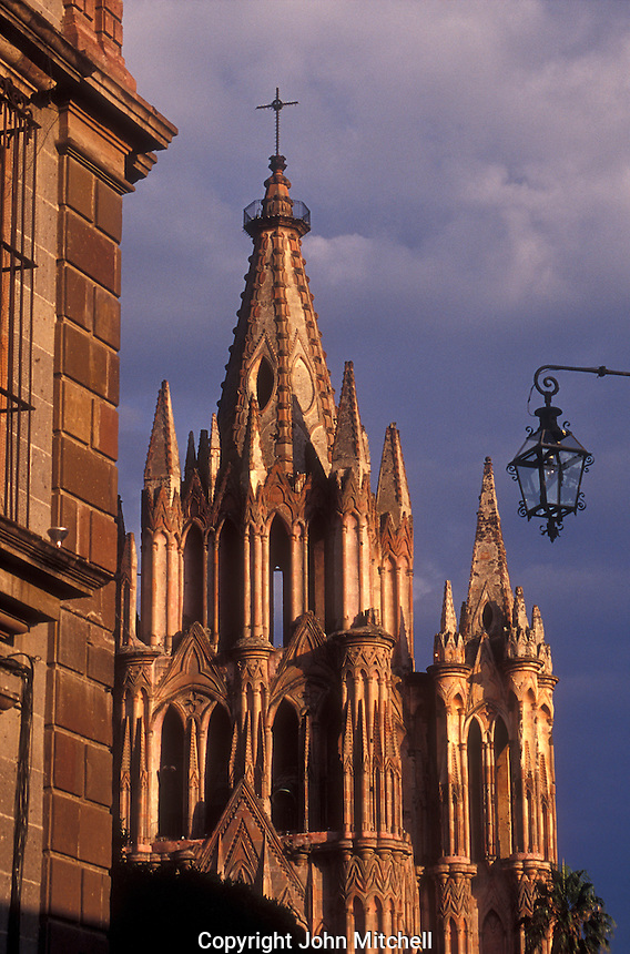 The Parroquia de San Miguel Arcangel or Parish Church in San Miguel de Allende, Guanajuato state, Mexico.