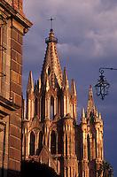 The Parroquia de San Miguel Arcangel or Parish Church in San Miguel de Allende, Guanajuato state, Mexico.