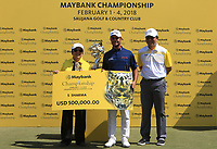 Shubhankar Sharma (IND) winner of the Maybank Championship at the Saujana Golf and Country Club in Kuala Lumpur on Saturday 4th February 2018.<br /> Picture:  Thos Caffrey / www.golffile.ie<br /> <br /> All photo usage must carry mandatory copyright credit (© Golffile | Thos Caffrey)