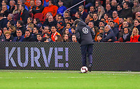 Bundestrainer Joachim Loew (Deutschland Germany) kriegt mit dem Ball gerade mal so die Kurve - 24.03.2019: Niederlande vs. Deutschland, EM-Qualifikation, Amsterdam Arena, DISCLAIMER: DFB regulations prohibit any use of photographs as image sequences and/or quasi-video.