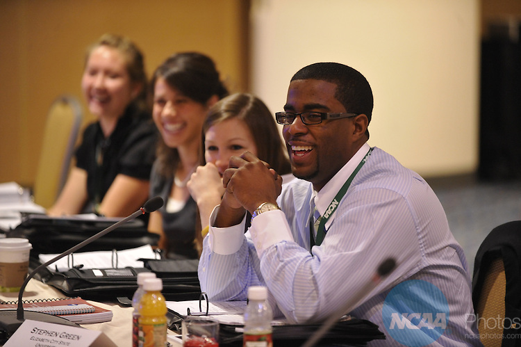 12 JAN 2010: The Division II SAAC meeting at the 2010 NCAA Convention held at the Marriott Marquis and the Hyatt Regency in Atlanta, GA. Stephen Nowland/NCAA Photos.Pictured: Stephen Green