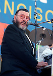 Johnny Otis, Sept. 2000, San Francisco Blues Festival. American blues and rhythm and blues pianist, vibraphonist, drummer, singer, bandleader and impresario. He was inducted to the Rock and Roll Hall of Fame in 1994 as a Non-Performer for his work as a songwriter and producer with Elvis Presley.