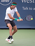 August  17, 2018:  Juan Martin del Potro (ARG) defeated Nick Kyrgios (AUS) 7-6, 6-7, 6-2, at the Western & Southern Open being played at Lindner Family Tennis Center in Mason, Ohio. ©Leslie Billman/Tennisclix/CSM