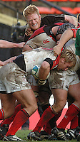 2005/06, Heineken Cup, 4th Rd, Saracens vs Ulster, Saracens Hugh Vyvyan, tries to get to Roger Wilson, Ulster ball carring No.8, at Vicarage Road, ENGLAND   © Peter Spurrier/Intersport Images - email images@intersport-images..