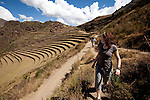An Inca Plantation in Sacred Valley outside of Cusco Peru
