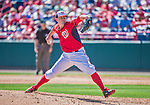 9 March 2014: Washington Nationals pitcher Drew Storen on the mound during a Spring Training game against the St. Louis Cardinals at Space Coast Stadium in Viera, Florida. The Nationals defeated the Cardinals 11-1 in Grapefruit League play. Mandatory Credit: Ed Wolfstein Photo *** RAW (NEF) Image File Available ***