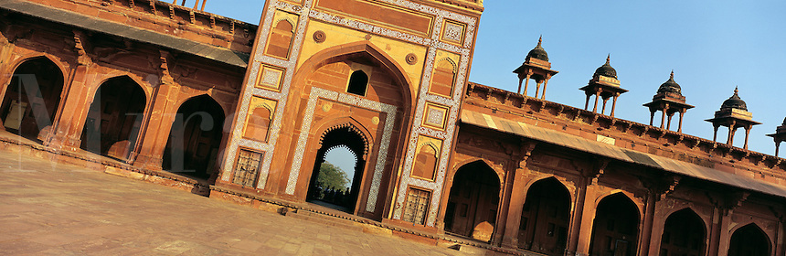 © David Paterson.Part of the abandoned Moghul city of Fatephur Sikri, between Agra and Jaipur, India...Keywords: moghul, moghal, Islamic, Fatephur, Sikri, Agra, India, Rajahstan, empire, history