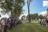Tiger Woods (USA) looks over his lie on his second shot on 2 during 3rd round of the World Golf Championships - Bridgestone Invitational, at the Firestone Country Club, Akron, Ohio. 8/4/2018.<br /> Picture: Golffile | Ken Murray<br /> <br /> <br /> All photo usage must carry mandatory copyright credit (© Golffile | Ken Murray)