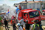 The publicity caravan ahead of the race during Stage 2 of the 2018 Tour de France running 182.5km from Mouilleron-Saint-Germain to La Roche-sur-Yon, France. 8th July 2018. <br /> Picture: ASO/Bruno Bade | Cyclefile<br /> All photos usage must carry mandatory copyright credit (&copy; Cyclefile | ASO/Bruno Bade)