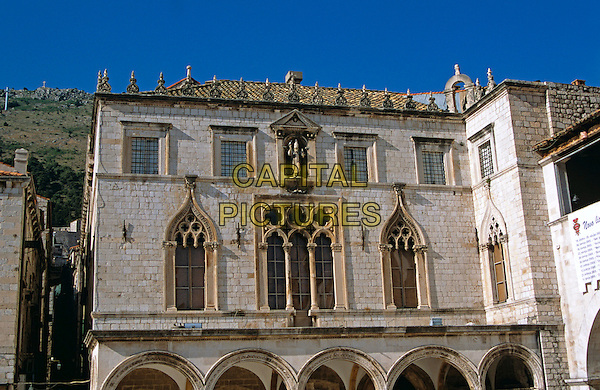 Sponza Palace, Luza Square, Stradun, Dubrovnik, Dalmatian Coast, Croatia, Former Yugoslavia
