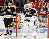 Eric Baier (Providence - 7), Alex Beaudry (Providence - 35) - The Boston University Terriers defeated the visiting Providence College Friars 2-1 on Saturday, October 23, 2010, at Agganis Arena in Boston, Massachusetts.