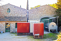The winery  at Mas de Gourgonnier, in Les Baux de Provence, Bouches du Rhone, France