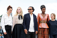 CANNES, FRANCE - Jury Members Alice Rohrwacher, Elle Fanning wearing Chopard, President of the Main competition jury Alejandro Gonzalez Inarritu, Jury members Maimouna N'Diaye and Kelly Reichardt attend the Jury photocall during the 72nd annual Cannes Film Festival on May 14, 2019 in Cannes, France. <br /> CAP/GOL<br /> ©GOL/Capital Pictures