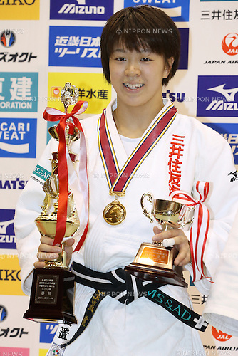 Momo Tamaoki,<br /> September 13, 2014 - Judo : <br /> All Japan Juior Judo Championships <br /> Women's -57kg Victory Ceremony<br /> at Saitama Kenritsu Budokan, Saitama, Japan. <br /> (Photo by Shingo Ito/AFLO SPORT) [1195]