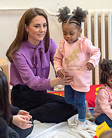 12 March 2019 -  Duchess of Cambridge visit to the Henry Fawcett Childrens Centre and learned more about the work being done by local organisations in Lambeth and their partners to support young children and their families London. Photo Credit: ALPR/AdMedia