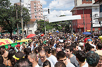 ATENÇÃO EDITOR: FOTO EMBARGADA PARA VEÍCULOS INTERNACIONAIS. SAO PAULO, SP, 02 DE FEVEREIRO DE 2013. PRE CARNAVAL NA VILA MADALENA.  As ruas do bairro paulista da Vila Madalena foram tomadas por foliões durante a passagem dos blocos pré carnavalescos na tarde deste sabado.  FOTOS ADRIANA SPACA/BRAZIL PHOTO PRESS