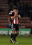 Enda Stevens of Sheffield Utd frustrated during the Championship match at Bramall Lane Stadium, Sheffield. Picture date 02nd April, 2018. Picture credit should read: Simon Bellis/Sportimage