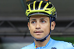 Esteban Chaves of Colombia at sign on before the Men Elite Road Race of the UCI World Championships 2019 running 280km from Leeds to Harrogate, England. 29th September 2019.<br /> Picture: Eoin Clarke | Cyclefile<br /> <br /> All photos usage must carry mandatory copyright credit (© Cyclefile | Eoin Clarke)