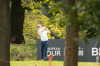 Grant Forrest (SCO) in action on the 6th hole during the first round of the 76 Open D'Italia, Olgiata Golf Club, Rome, Rome, Italy. 10/10/19.<br /> Picture Stefano Di Maria / Golffile.ie<br /> <br /> All photo usage must carry mandatory copyright credit (© Golffile | Stefano Di Maria)
