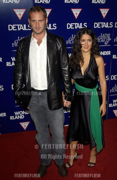 Actor JOSH LUCAS & girlfriend actress SALMA HAYEK at the Los Angeles premiere of his new movie Wonderland..Sept 24, 2003