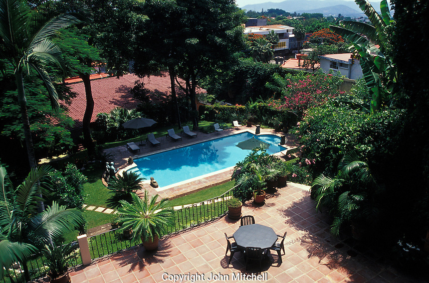 Hotel swimming pool in Cuernavaca, Morelos, Mexico