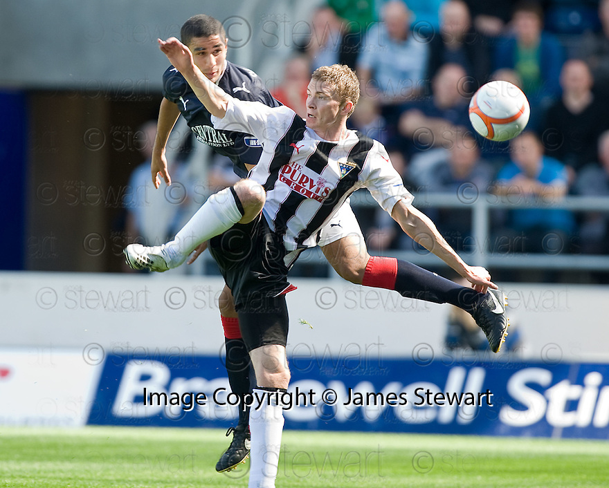 07/08/2010   Copyright  Pic : James Stewart.sct_jsp005_falkirk_v_dunfermline  .::  MEDHDI KHALIS HEADS CLEAR FROM PAT CLARKE  ::  .James Stewart Photography 19 Carronlea Drive, Falkirk. FK2 8DN      Vat Reg No. 607 6932 25.Telephone      : +44 (0)1324 570291 .Mobile              : +44 (0)7721 416997.E-mail  :  jim@jspa.co.uk.If you require further information then contact Jim Stewart on any of the numbers above.........