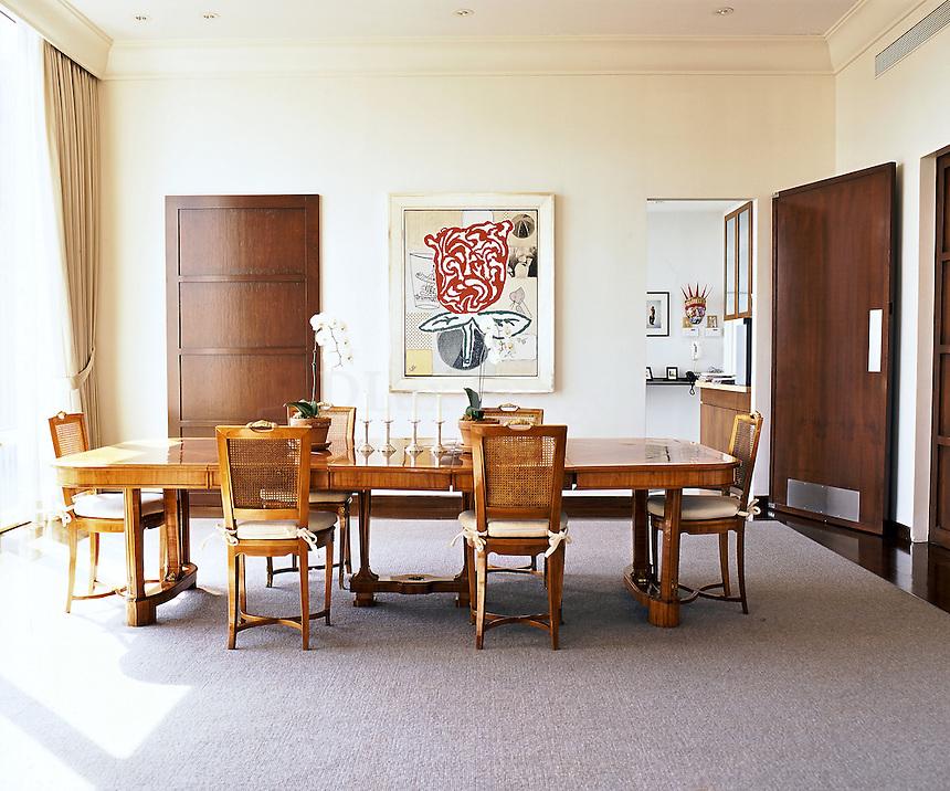 bright minimal dining room