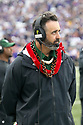 SEATTLE, WA - SEPTEMBER 14: Hawaii head coach Nick Rolovich watches his team during the college football game between the Washington Huskies and the Hawaii Rainbow Warriors on September 14, 2019 at Husky Stadium in Seattle, WA. Jesse Beals / www.Olympicphotogroup.com