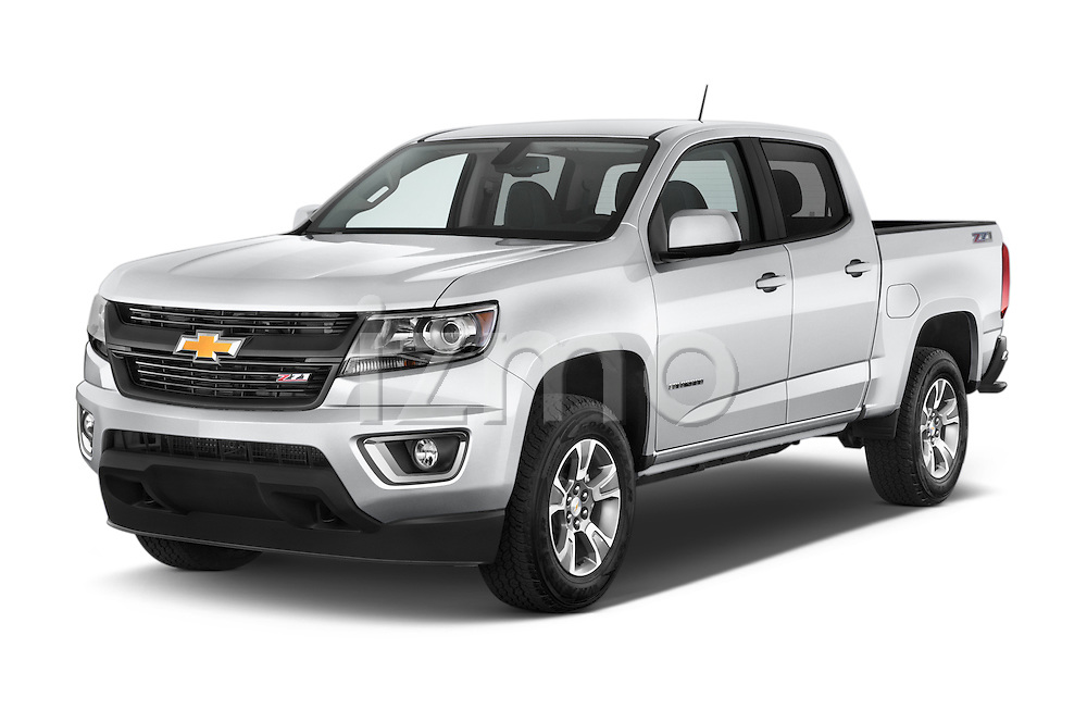 2015 Chevrolet Colorado Z71 Crew Cab 4 Door Pick Up Angular Front stock photos of front three quarter view