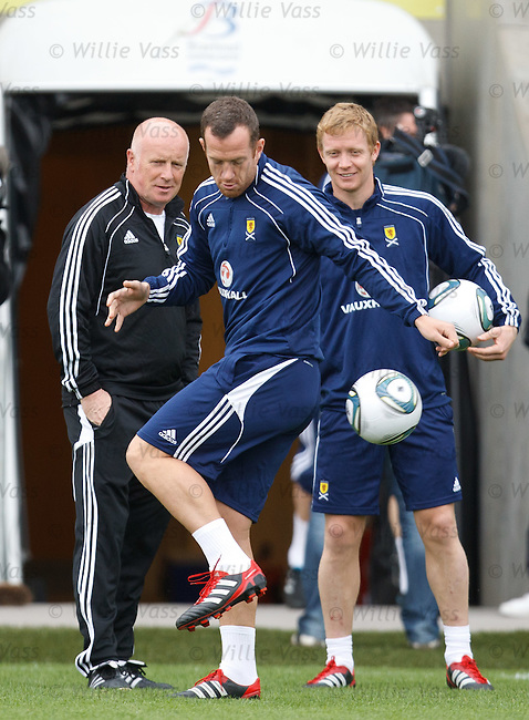 Charlie Adam at Scotland training