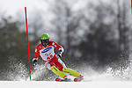 Gakuta Koike (JPN),<br /> MARCH 17, 2018 - Alpine Skiing : <br /> Men's Slalom Standing Run2 <br /> at Jeongseon Alpine Centre  <br /> during the PyeongChang 2018 Paralympics Winter Games in Pyeongchang, South Korea. <br /> (Photo by Yusuke Nakanishi/AFLO SPORT)