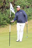 Shane Lowry (IRL) on the 3rd green during Round 2 of the Alfred Dunhill Links Championship 2019 at Kingbarns Golf CLub, Fife, Scotland. 27/09/2019.<br /> Picture Thos Caffrey / Golffile.ie<br /> <br /> All photo usage must carry mandatory copyright credit (© Golffile | Thos Caffrey)