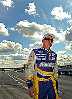 Aug. 7, 2009; Watkins Glen, NY, USA; NASCAR Sprint Cup Series driver David Reutimann during qualifying for the Heluva Good at the Glen. Mandatory Credit: Mark J. Rebilas-