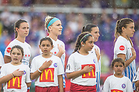 Orlando, FL - Saturday July 01, 2017: Chicago Red Stars during a regular season National Women's Soccer League (NWSL) match between the Orlando Pride and the Chicago Red Stars at Orlando City Stadium.