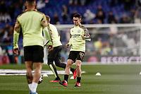 26th February 2020; Estadio Santiago Bernabeu, Madrid, Spain; UEFA Champions League Football, Real Madrid versus Manchester City; Phil Foden (Manchester City)  Pre-match warm-up