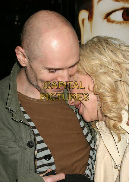 "BILLY CORGAN & COURTNEY LOVE.""Freedom Writers"" Los Angeles Premiere at Mann's Village Theatre, Westwood, California, USA, 4 January 2007. .portrait headshot couple leaning head on shoulder.CAP/ADM/BP.©Byron Purvis/Admedia/Capital Pictures"