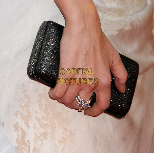 DIANE KRUGER's bag.15th Annual Critics' Choice Movie Awards - Arrivals held at the Hollywood Palladium, Hollywood, California, USA, 15th January 2010..detail ring black clutch bag hand .CAP/ADM/BP.©Byron Purvis/Admedia/Capital Pictures