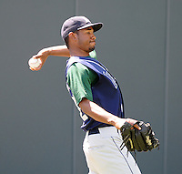 Pitcher Gabriel Garcia (32) of the Lexington Legends, a Houston Astros affiliate, before a game against the Greenville Drive on July 22, 2012, at Fluor Field at the West End in Greenville, South Carolina. Lexington won, 13-7. (Tom Priddy/Four Seam Images)