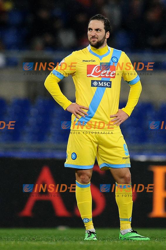 Gonzalo Higuain Napoli.<br /> Roma 05-02-2014 Stadio Olimpico. Football Calcio 2013/2014 Tim Cup. AS Roma - Napoli. Foto Antonietta Baldassarre / Insidefoto