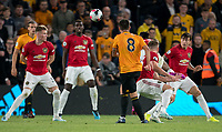 Rubén Neves of Wolves scores a goal during the Premier League match between Wolverhampton Wanderers and Manchester United at Molineux, Wolverhampton, England on 19 August 2019. Photo by Andy Rowland.