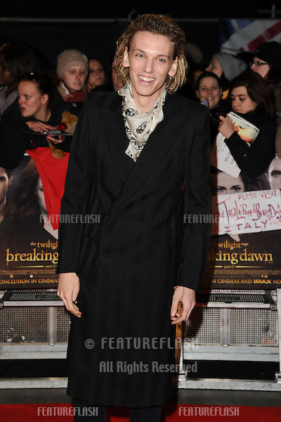 "Jamie Campbell Bower arriving for the ""The Twilight Saga: Breaking Dawn Part 2"" premiere at the Odeon Leicester Square, London. 14/11/2012 Picture by: Steve Vas / Featureflash"