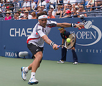 David Ferrer..Tennis - US Open - Grand Slam -  New York 2012 -  Flushing Meadows - New York - USA - Sunday 2nd September  2012. .© AMN Images, 30, Cleveland Street, London, W1T 4JD.Tel - +44 20 7907 6387.mfrey@advantagemedianet.com.www.amnimages.photoshelter.com.www.advantagemedianet.com.www.tennishead.net